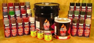 painting a wood burning stove paint