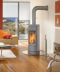 tall modern wood burning stove