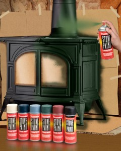painting a wood burning stove